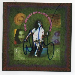 Alice Cooper Beast of music signed genuine signature autograph CD COA