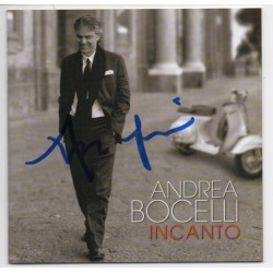 Andrea Bocelli Incanto music signed genuine signature autograph CD COA