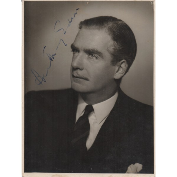 Anthony Eden PM politics authentic genuine signed photo