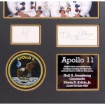 Apollo 11 Neil Armstrong Buzz Aldrin genuine authentic autograph signed display