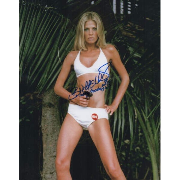 Britt Ekland James Bond authentic genuine signed photo COA UACC AFTAL