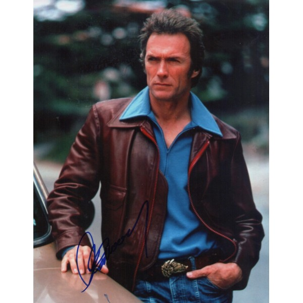 Clint Eastwood Dirty Harry etc genuine authentic autograph signed photo AFTAL UACC