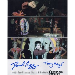 David & Tony Meyer James Bond genuine authentic autograph signed photo AFTAL
