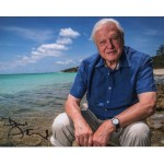 David Attenborough beach signed authentic autograph photo