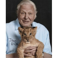 David Attenborough cub signed authentic autograph photo