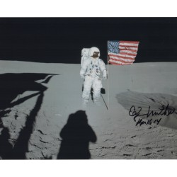 Edgar Mitchell Apollo 14 Frau Mauro signed Genuine signature photoCOA