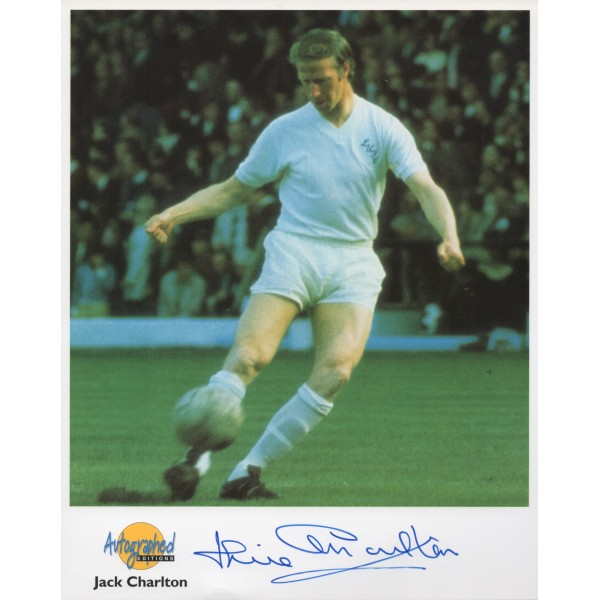 Jackie Charlton Football Leeds England genuine signed authentic signature photo