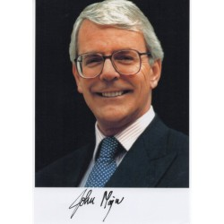 John Major PM politics authentic genuine signed photo