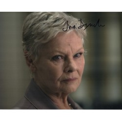 Judi Dench James Bond genuine authentic signed autograph photo COA
