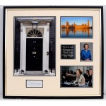 Margaret Thatcher PM large signed genuine signature autograph display COA