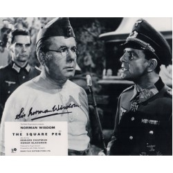 Norman Wisdom Square Peg authentic genuine signed autograph photo