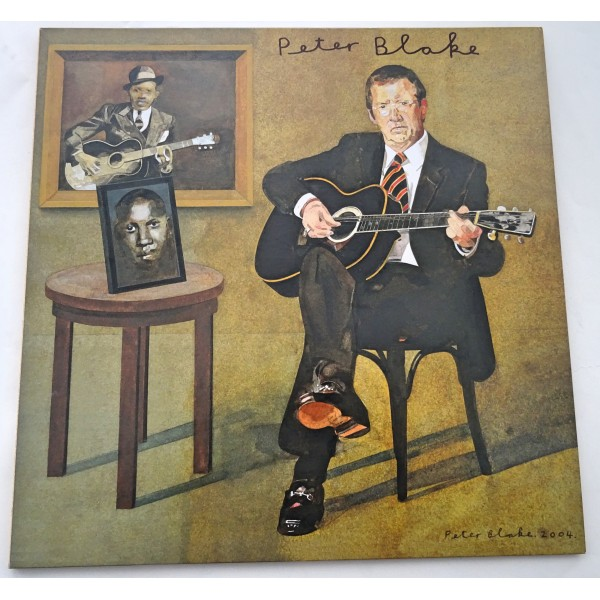 """Peter Blake Me and Mr Johnson authentic genuine signature signed 12"""" vinyl record sleeve"""