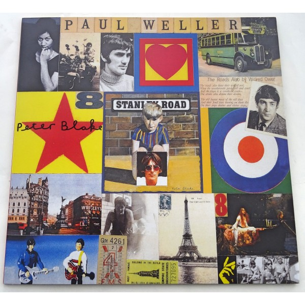 "Peter Blake Stanley Road authentic genuine signature signed 12"" vinyl record sleeve"