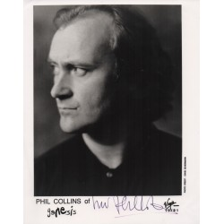 Phil Collins Genesis music signed autograph photo COA AFTAL