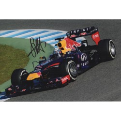 Sebastian Vettel F1 Red Bull authentic genuine signed photo COA UACC AFTAL