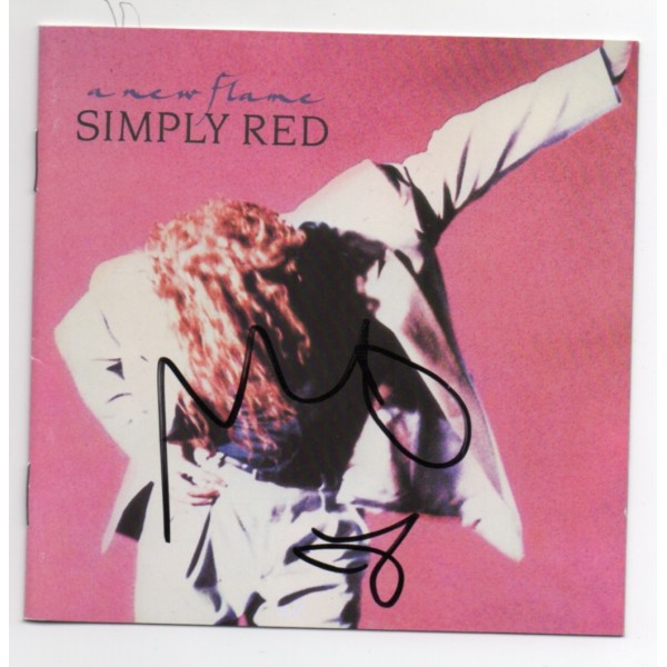 Simply Red Mick Hucknel music signed genuine signature autograph CD COA