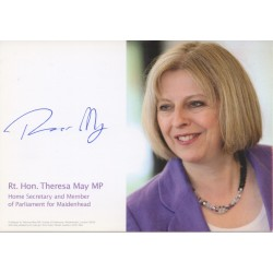 Theresa May PM politics authentic genuine signed photo
