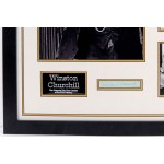 Winston Churchill signed genuine signature autograph display COA