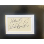 Marlon Brando Godfather authentic signed signature autograph display