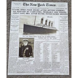 RMS Titanic Millvina Dean survivor authentic signed Genuine signature poster