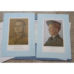 Douglas Bader RAF Jubilee edition genuine signed authentic signature prints