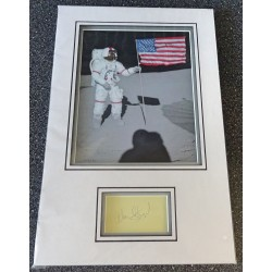 Alan Shephard Apollo 14 signed genuine signature autograph display COA