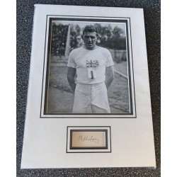 Harold Abrahams Chariots of Fire signed genuine signature autograph display