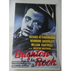 Richard Attenborough Brighton Rock genuine signed authentic signature poster COA