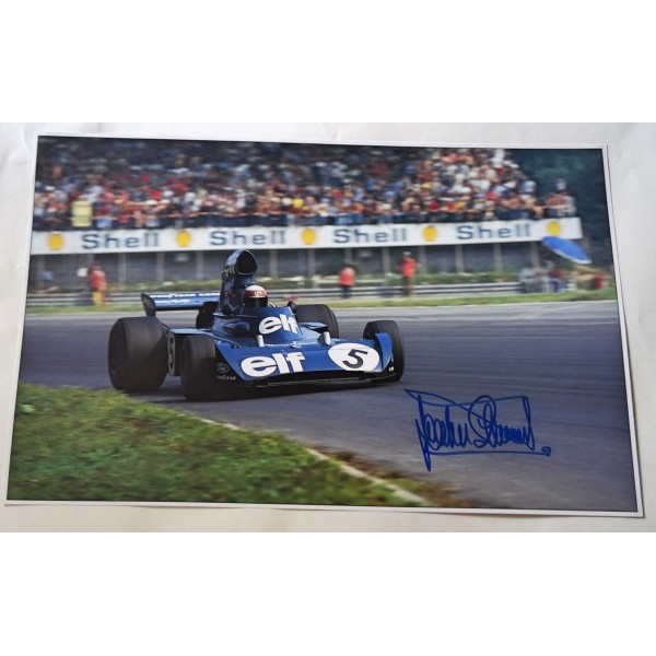 Jackie Stewart Tyrrell F1 genuine signed authentic autograph image AFTAL 2