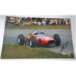 John Surtees F1 Ferrari genuine authentic signed autograph image.