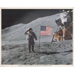 Dave Scott Apollo 15 authentic signed Genuine signature litho COA AFTAL