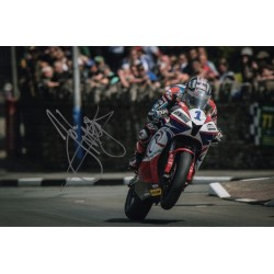 John McGuinnness IOM TT genuine authentic autograph signed photo