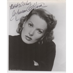 Maureen O'Hara authentic genuine signature signed photo COA AFTAL