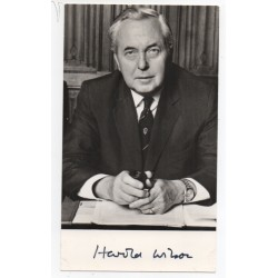 Harold Wilson PM politics authentic genuine signed photo