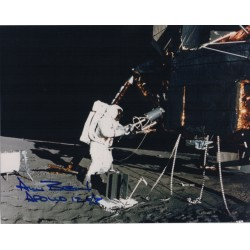 Alan Bean Apollo 12 space authentic signed Genuine signature photo COA