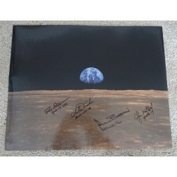 Apollo 12 14 15 16 authentic signed Genuine signature poster COA UACC