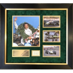 Jim Clark Lotus F1 authentic signed signature autograph display