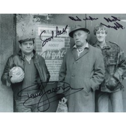 David Jason Nick Lyndhurst OFAH signed genuine signature photo COA AFTAL UACC