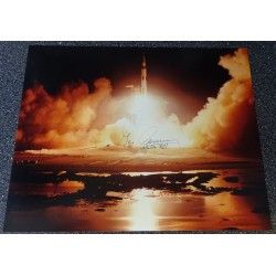 Eugene Cernan Apollo 17 authentic genuine signature signed photo COA