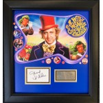 Gene Wilder Wily Wonka authentic signed signature autograph display