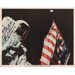 Harrison Schmitt Apollo 17 signed autograph colour NASA litho