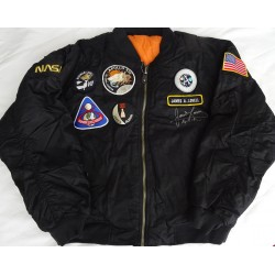 Jim James Lovell Apollo 13  authentic signed Genuine signature flight jacket