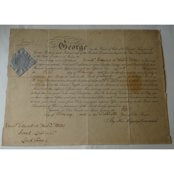King George V genuine authentic autograph signed document coa
