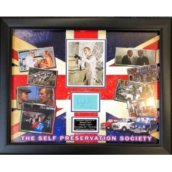 Michael Caine Italian Job authentic signed signature autograph display