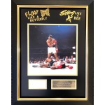 Muhammad Ali Boxing authentic signed signature autograph display