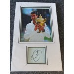 Novak Djokovic tennis signed genuine signature autograph display
