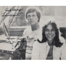 The Carpenters Richard and Karen Music authentic autographs genuine signed image