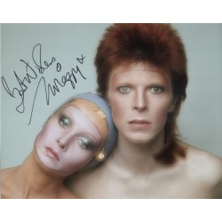 Twiggy genuine signed authentic autograph David Bowie photo