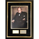 Winston Churchill PM Politics authentic signed signature autograph display
