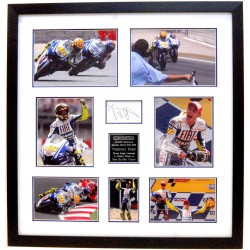 VALENTINO ROSSI Signed FRAMED Spanish GP 2009 DISPLAY MotoGP Yamaha